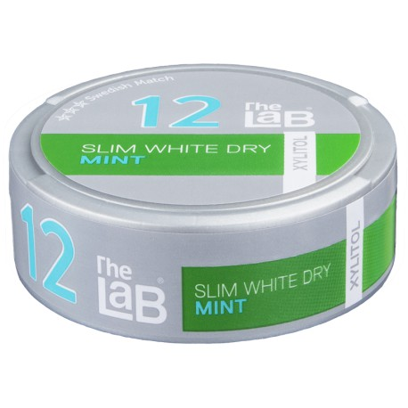 The LAB 12 Slim Fresh Mint Strong White Portion Snus