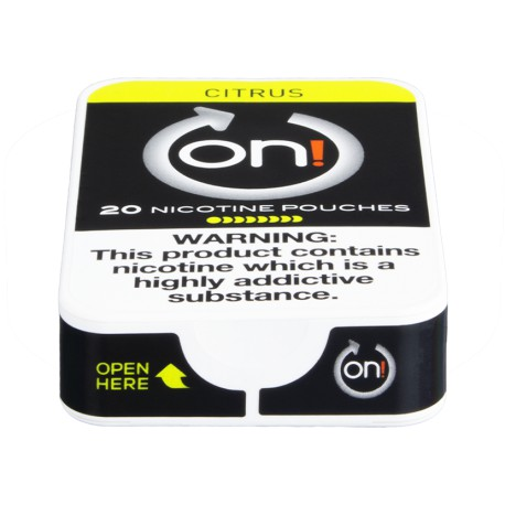 on! Citrus 8 Nicotine Pouches