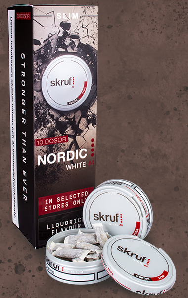 Skruf Slim Nordic White Xtra Strong
