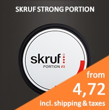 Skruf Slim Fresh Ultra Strong White